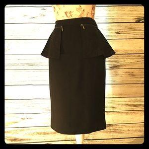 Etcetera Anise Peplum Zipper Pencil Skirt